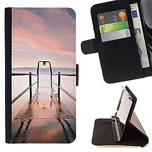 For HTC Desire 820 Case , Naturaleza Hermosa Forrest Verde 49- la tarjeta de Crédito Slots PU Funda de cuero Monedero caso cubierta de piel