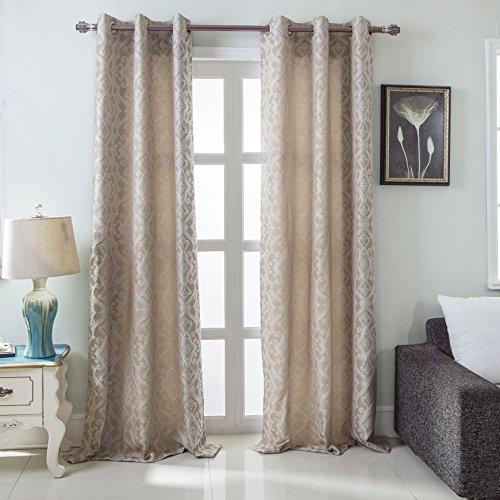 - RT Designers Collection Durham Damask Jacquard Grommet Curtain Panel Pair (Set of 2), 76