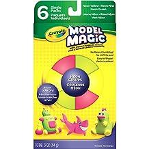 Crayola Model Magic Neon Clay, Assorted, 6-Pack