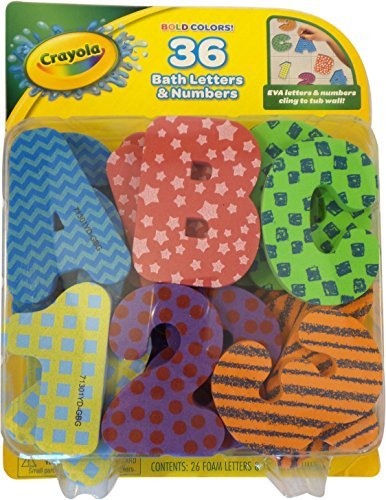 Crayola Foam Bath Letters & Numbers in 36 Bold (Crayola Foam)