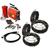 Steel Dragon Tools K60 2''- 6'' Snake Sewer Pipe Drain Cleaner fits RIDGID 66492 w/ SDT C10 7/8'' x 90' & C8 5/8'' x 106' Sectional Cables