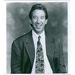 Vintage photo of Portrait of Tim Allen from American sitcom Home Improvement, 1991.