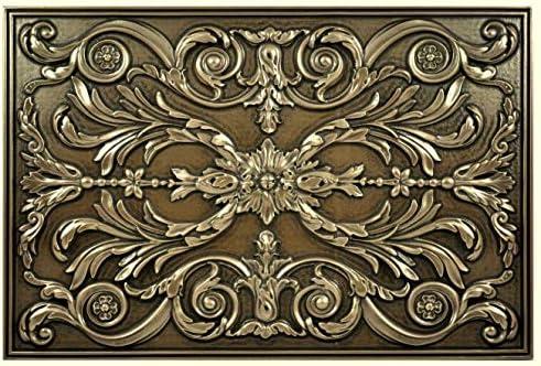 Kitchen Backsplash Premium Bronze Metal Resin Mural Medallion Hand Made Textured Tile