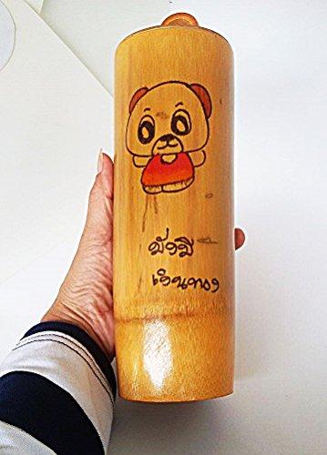 "Piggy bank Bamboo cylinder For money 3""x10"""