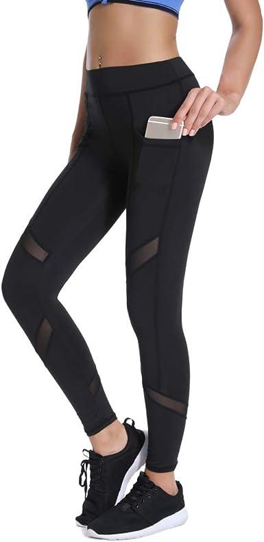 Joyshaper Femmes Pantalon De Yoga Élastique Leggings de Sport avec Téléphonepoches pour Yoga Fitness Courir du Matin