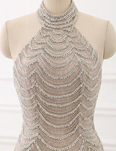 Abendkleid Frauen Kleider Perlen Formales Rückenfrei Erosebridal Mieder Halfter Prickelnde zqpw4FX