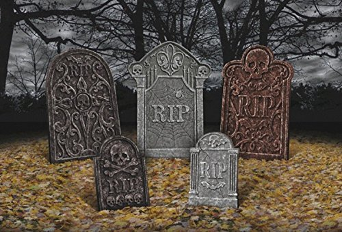Amscan 191098 Tombstone Value Pack, Black]()