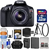 Canon EOS Rebel T6 Wi-Fi Digital SLR Camera & EF-S 18-55mm is II Lens 32GB Card + Case + Battery & Charger + Tripod + Filter + Diffusers + Kit