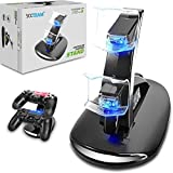 PlayStation 4 Controller chargers, [Dual Slot] High Speed Docking / Charging Station Stand for Sony PlayStation 4 and PS4 Pro Controller