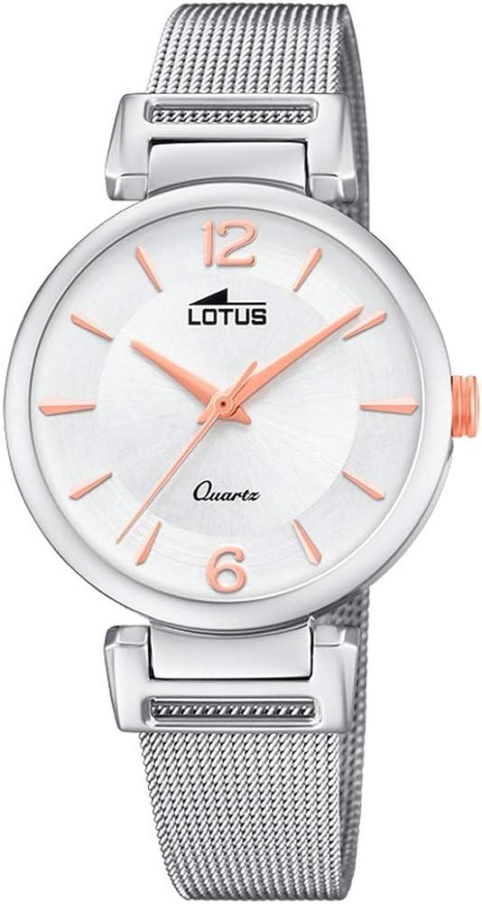 Lotus Reloj Analógico para Mujer de Cuarzo con Correa en Acero Inoxidable 18646/1