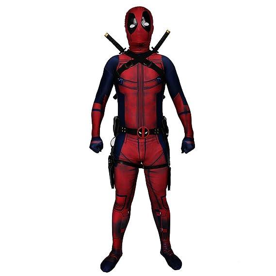KILLM Deadpool Animado Cosplay Mono Flaco Traje Halloween ...
