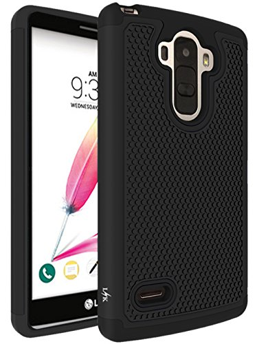 LG G Stylo Case, LK Drop Protection Shock-Absorption Impact Resistant Hybrid Dual Layer Armor Defender Protective Case Cover for LG G Stylo (Black)