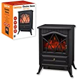Benross Cast Iron Effect Fire Electric Stove, 1800 W, Black