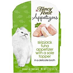 Purina Fancy Feast Appetizers Skipjack Tuna With A Sole Topper Adult Wet Cat Food Complement - (10) 1.1 Oz. Trays