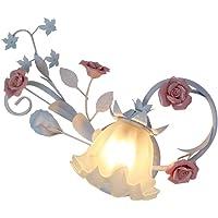 LSSB Apliques de pared Lámpara del dormitorio Rose
