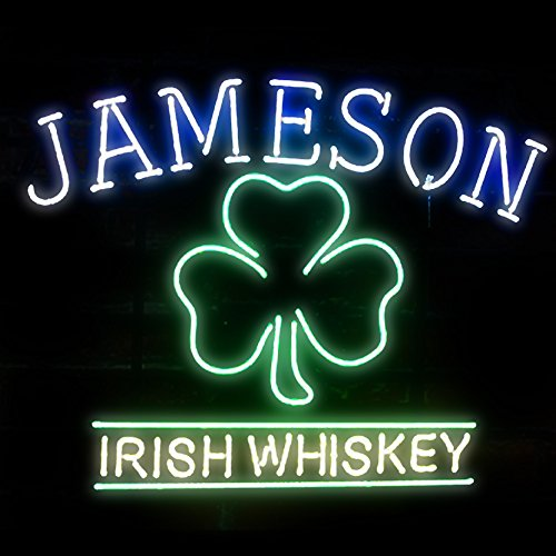 Jameson Irish Whiskey Beer Bar Pub Store Party Room Wall Windows Display Neon ()
