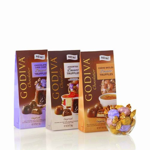 Godiva Chocolatier Dessert Truffles - Pack of 3 (Creme Brulee, Chocolate Lava Cake & Assorted with Strawberry Cheesecake) by GODIVA (Assorted Cheesecakes)