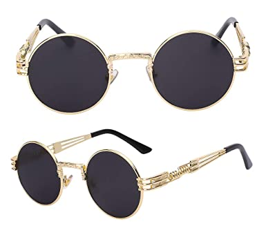 2519ec72a65 The Bad and Boujee s Sunglasses Steampunk Trendy Hip Hop Shades (Black Frame  + Black Lens) at Amazon Women s Clothing store