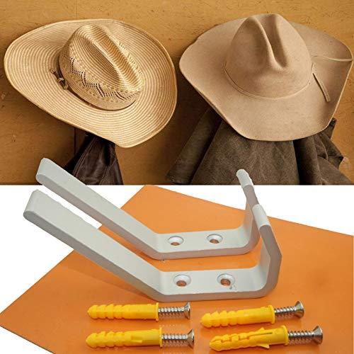Paquete de 2 percheros de pared, ganchos de metal para colgar abrigos, chaquetas, sombreros, bufandas, toallas, mochilas,...