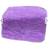 Color:Purple # 2525cm Hanging Hand Towels Coral Velvet Absorbent Lint-Free Cloth Baby Child Wipe Water Towels by advanced (Purple)