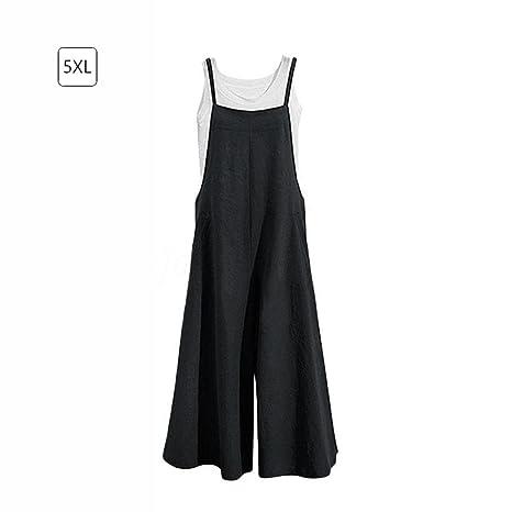 84eb20f054027 Jannyshop Women Autumn Loose Linen Suspender Overalls Jumpsuit Bib Trousers Wide  Leg Pants Plus Size  Amazon.ca  Tools   Home Improvement