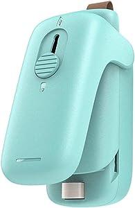 Mini Bag Sealer and Cutter Handheld Heat Sealer Snack Bag Resealer, Battery Not Included