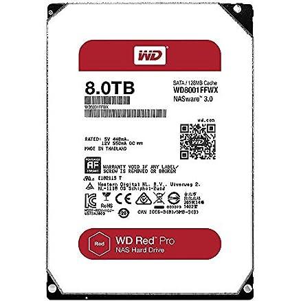 WD Red Pro 8TB NAS Hard Drive (WD8001FFWX) SATA at amazon