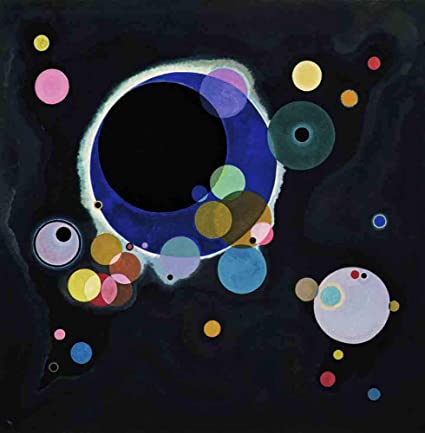 Amazon Com Neron Art Wassily Kandinsky Several Circles 1926