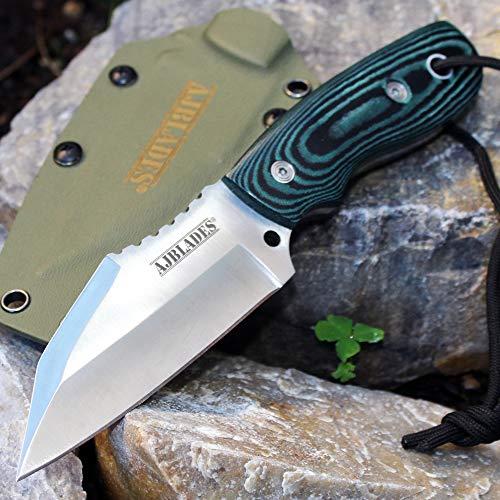 Full Tang Tactical Boot Hunting Knife MICARTA Handle - KYDEX Sheath AJ328GN