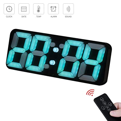 Reloj de pared Digital LED con mando a distancia IR multifunción color 3d reloj de pared