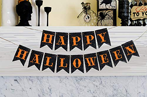 Happy Halloween Cardstock Banner for Halloween Decoration]()
