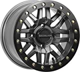 Raceline A91G-57056-52 Ryno Beadlock Front/Rear Wheel - 15x7 - 5+2 Offset - 4/156 - Gunmetal (15x7)