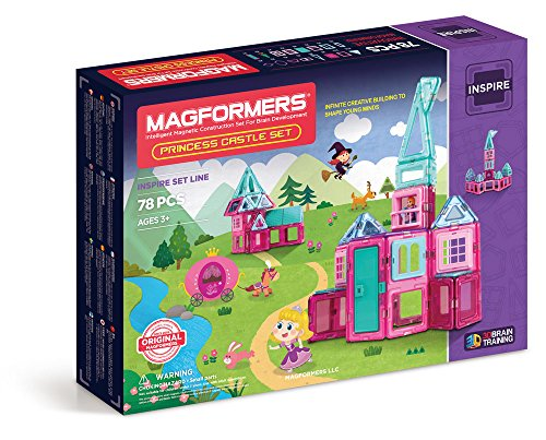 MAGFORMERS Princess Castle Set (78 Piece)