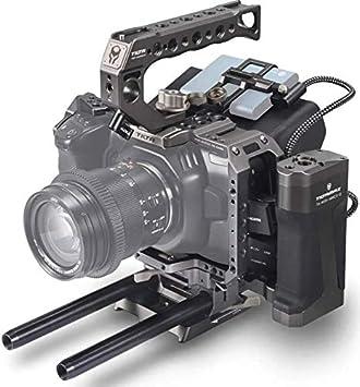 Amazon Com Tilta Camera Cage Bmpcc 4k 6k Blackmagic Pocket Cinema Camera Rig Ta T01 A G Tactical Gray Electronics