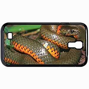 Fashion Unique Design Protective Cellphone Back Cover Case For Samsung GalaxyS4 Case Colied Snake Black