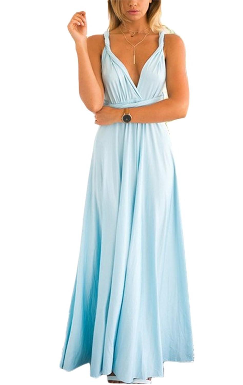 Domorebest Multi-pass para mujer - Vestido multicanal con múltiples vestidos, múltiples cuerdas y falda cruzada
