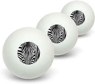Zebra Face–Safari Imprimé animal Rayures fantaisie Balles de ping-pong Lot de 3 Graphics and More