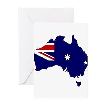 CafePress – Australien Flagge Karte – Grußkarte, Note Karte