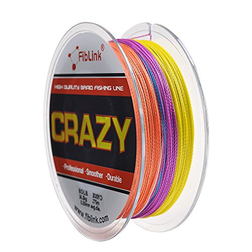 [Clearance Sales] Fiblink Braided Line 500 Yards Various Colors Braided Fishing Line 4 Strands Braid Fishing Line 10Lb-80Lb Super Strong Braid Line PE Line