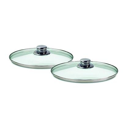Juego de sartenes de aluminio forjado y revestimiento de 3 capas de cerámica. 3 sartenes