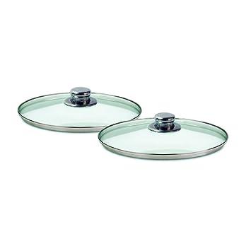Juego de sartenes de aluminio forjado y revestimiento de 3 capas de cerámica. 3 sartenes de diámetro 20cm, 23cm y 26cm. Aptas para inducción. Tapas ...