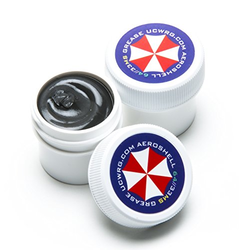 Umbrella Corp AeroShell 33MS / 64 Grease MIL-SPEC for Barrel Thread - 2 Pack Gun Builders (Barrel Nut Ar)