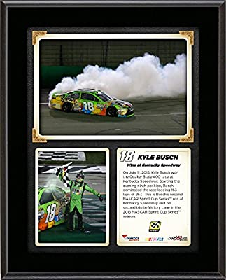 Kyle Busch 2015 Quaker State 400 at Kentucky Speedway Race Winner 10.5'' x 13'' Sublimated Plaque Collage - Fanatics Authentic Certified