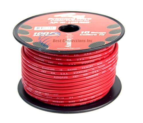 10 GA GAUGE 100 FT SPOOLS PRIMARY AUTO REMOTE POWER GROUND WIRE CABLE (3 ROLLS) by Audiopipe (Image #1)