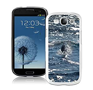 Newest Samsung Galaxy S3 I9300 Case ,Bottlenose Dolphin Animal Mobile Wallpaper White Samsung Galaxy S3 I9300 Screen Case Unique And Durable Custom Designed Cover Case