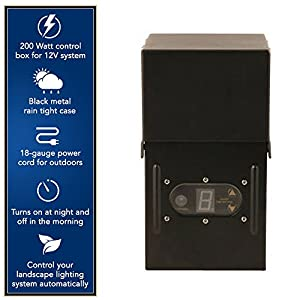 Moonrays Electric Power Pack Low Voltage Lighting For Outdoor Use With Light Sensor and Rain-Tight Case (200 Watt)