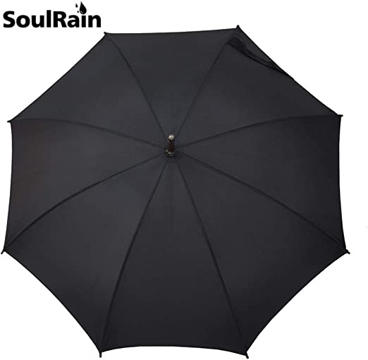 Automatic Umbrella Wooden Port with Curved Round Hook Handle in 103 cm Diameter