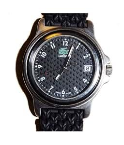 Lacoste 3000G 15 - Reloj analógico de caballero de cuarzo con correa de plástico negra