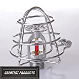 (5 Pack) GREATEST Fire Sprinkler Head Guard Chrome
