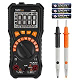 Tacklife DM09 Advanced Multimeter TRMS 6000 Counts Auto-Ranging NCV with LCD Backlight, Screwdriver for AC/DC Voltage & Current, Resistance, Capacitance, Diode,Frequency, Duty Cycle, VFC Volt Test